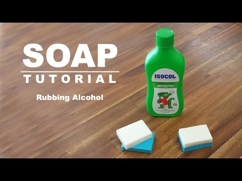 Rubbing Alcohol Test, Melt and Pour Soap