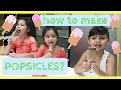 How to make popsicles?