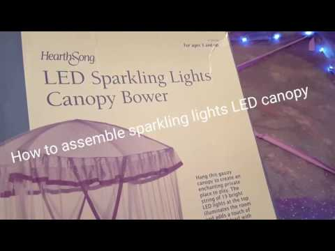 How to assemble sparkling lights LED canopy