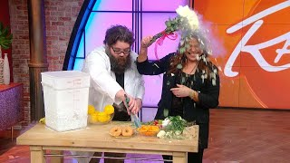 """Watch Rach Smash Food (and Flowers!) Frozen in Liquid Nitrogen With Kevin From """"Street Science"""""""