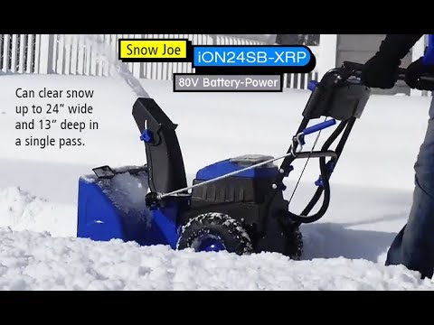 Unboxing SnowJoe Ion 24 SB XRP Snowblower