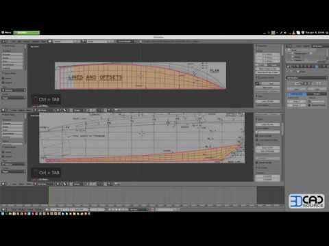 How to model a motor boat in Blender 2.6 part01