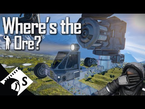 Space Engineers Tutorial: Landing on a planet and finding ore (Guide to finding ore in update 1.186)