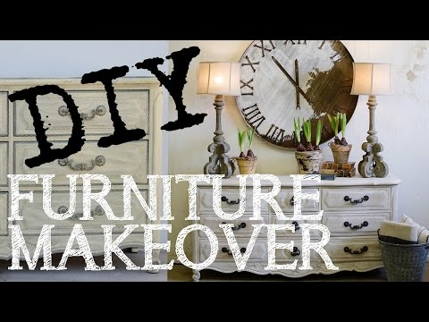 How to White Wash Furniture using Chalk Paint, DIY Restoration Hardware Look