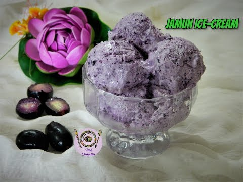 Jamun Ice Cream | Natural Flavour Ice Cream | Fresh Fruit Natural - Food Connection