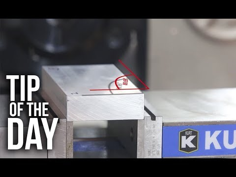 Quickly Pick Up a Work Offset and an Angle With Your Haas Probe – Haas Automation Tip of the Day