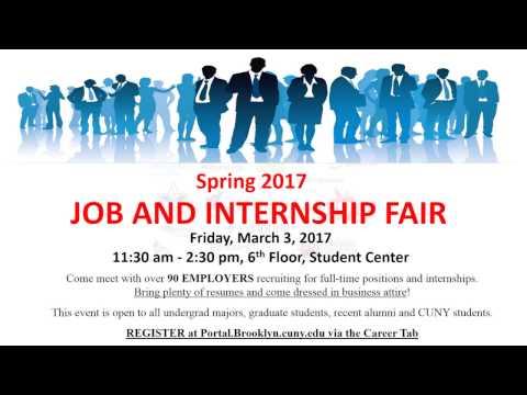 Spring 2017 Brooklyn College Job Fair Employers and Prep