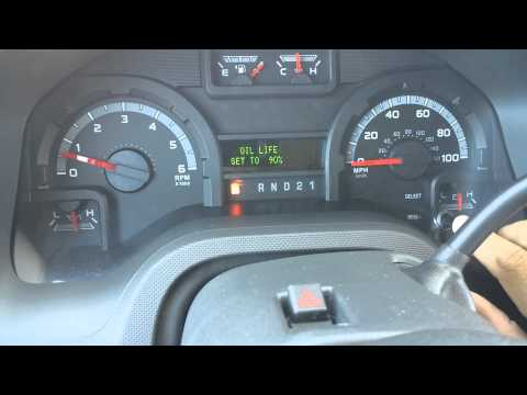 E 350 oil change light