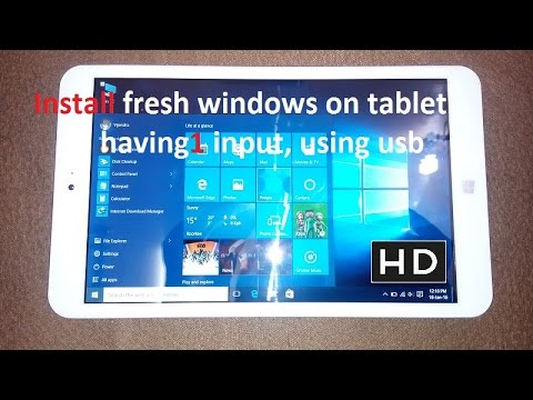 How to install fresh new copy of windows in tablet with one slot in uefi boot menu option