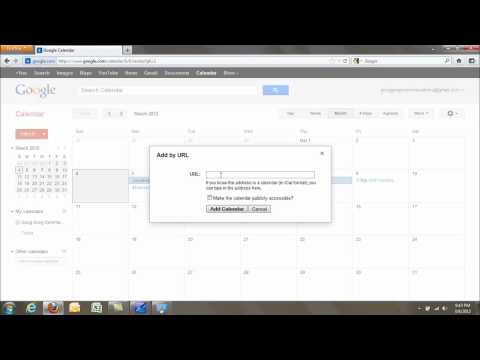 Adding Other Calendars to Google Calendar