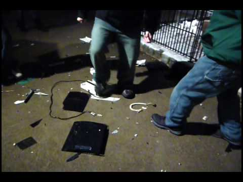 PS3 Gets Destroyed on New Years Eve!!