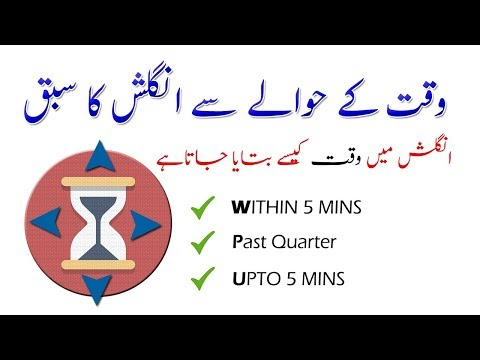 How to Ask the time in English   انگلش میں وقت کیسے بتایاجاتاہے۔