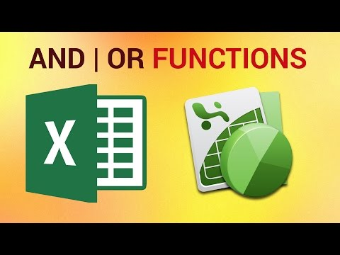 How to Use AND and OR Functions in Excel 2016
