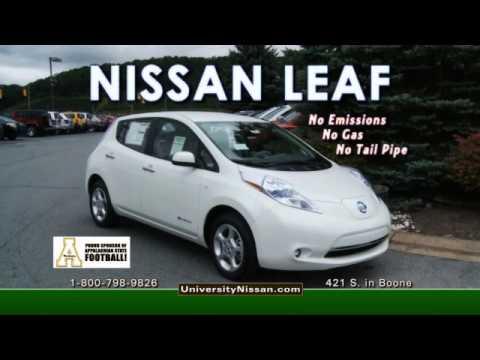 University Nissan - NISSAN LEAF - 100% Electric Vehicle - John Cook General Manager