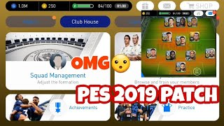 Pes 2019 Mobile official 2 3 3 Patch New Graphics Menu 18/19