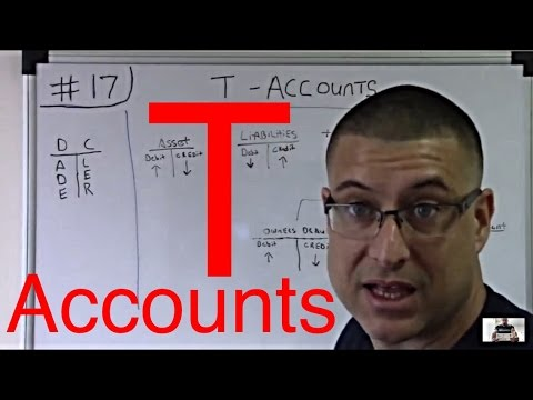 Accounting For Beginners #17 /  T-Accounts / Debits and Credits / Accounting 101