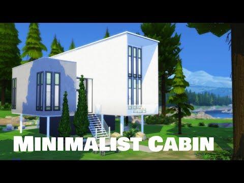 Sims 4 | House Building | Minimalist Cabin