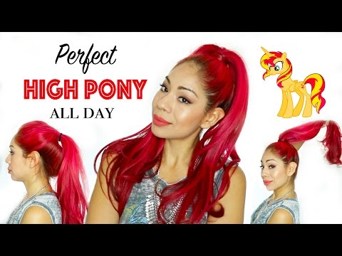 How To: Perfect High Ponytail All Day | No More Saggy Pony