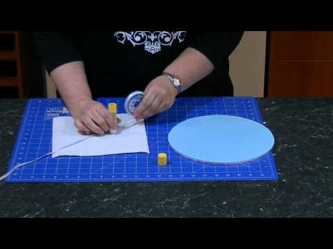 How to Apply Ribbon to a Fondant Covered Cake Board