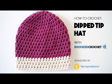 How to Crochet the Dipped Tip Crochet Hat - Beginner Friendly