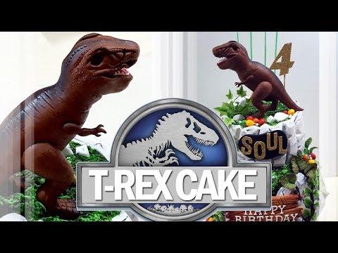 Jurassic World t-rex cake tutorial 쥬라기 월드 티라노사우루스 공룡 케이크 만들기