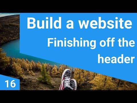 Build a responsive website tutorial 16 - finishing the website header