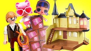 LOL Surprise Dolls Move, Adopt a New Sibling and Go Out to Dinner with Playmobil Sets & Unboxings