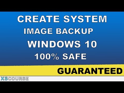 How to Create  System Image Backup in Windows 10