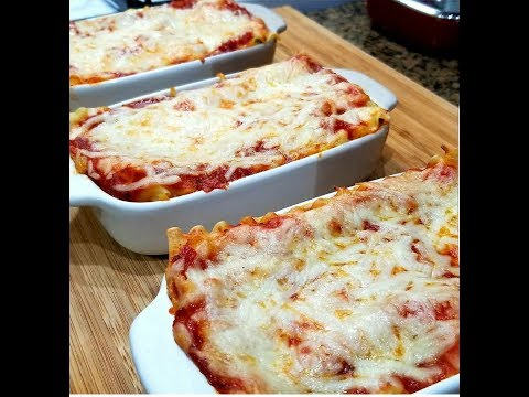 Five Cheese Spinach and Mushroom Lasagna