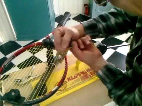 Stringing my tennis racquet