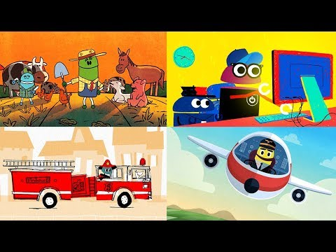 StoryBots | Learning Songs About Jobs & Professions For Kids | Firefighter, Software Engineer & Vet