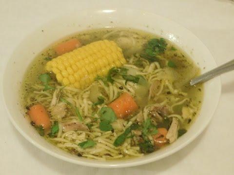 Chicken Noodle Soup (Sopa de Pollo )Puerto Rican style- Episode 64