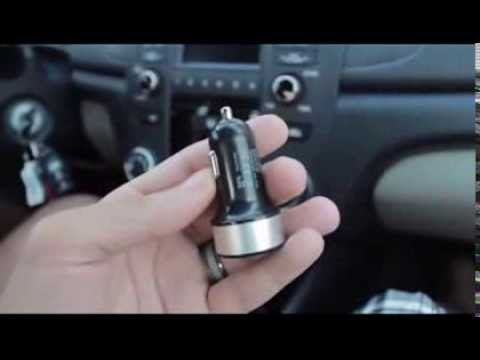 Dual USB Car Charger Reviews - Vority Fast & Smart Duo31CC Charging Samsung Galaxy Tab & S in Car