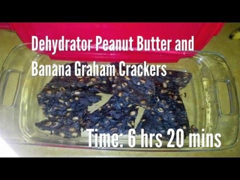 Dehydrator Peanut Butter and Banana Graham Crackers Recipe