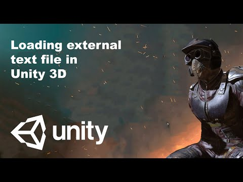 Unity tutorial : Loading external text file in Unity3D