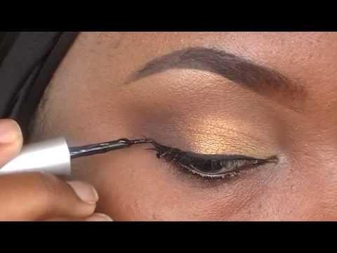 How To Apply Liquid Eyelinertamekans