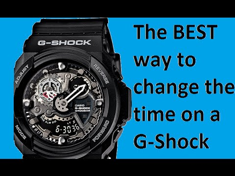 The best way on how to change the time on a G - Shock GA - 300