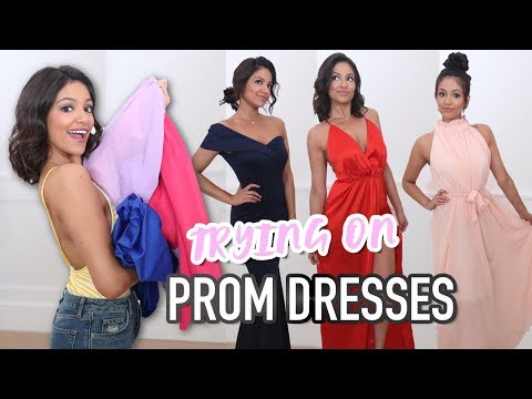 Trying on $30 Prom Dresses from Amazon! | Bethany Mota