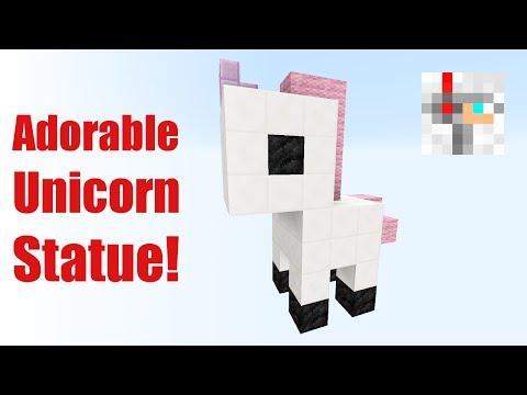 CUTEST MINECRAFT STATUES #1 | Unicorn Tutorial