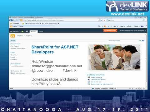 SharePoint 2010 for ASP.NET Developers