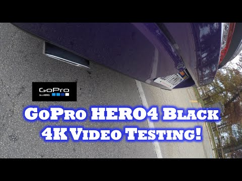 GoPro HERO 4 Black 4K Video Testing! Dodge Challenger SRT (4K)