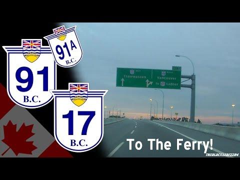 Burnaby to Tsawwassen Ferry Terminal