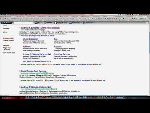 Google + sharing on Google search