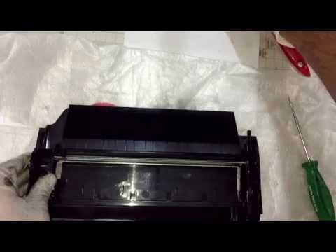 How to toner refilling Lexmark x654 x656 x658 t650. Lexmark x654 t650 toner dolumu