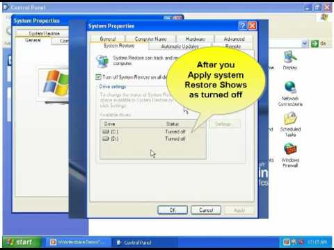 Security Settings for Windows XP