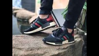 Adidas NMD R1 Boost Gucci Custom Running Sneakers Boutique