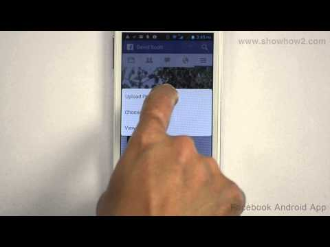 Facebook Android App - How To Update Your Profile Picture