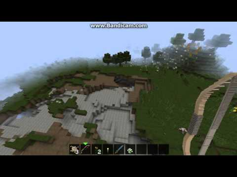 [1.7.4] Minecraft. Fight with Ender Dragon,Ghast and make a Nether Portal