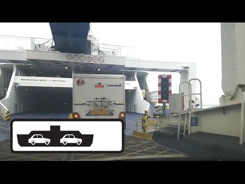 Dover, UK To Calais, France (Ferry Crossing Boarding / Alighting) (June 2017)