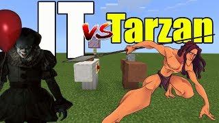 Pennywise vs Tarzan | Minecraft PE